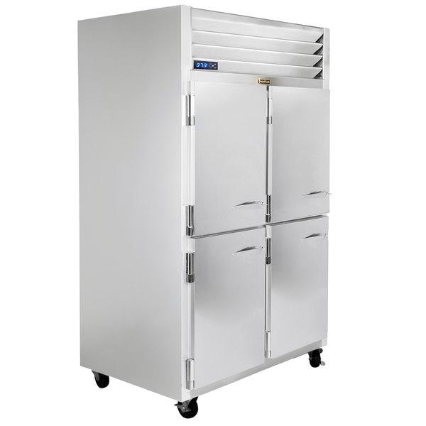 """Traulsen G22003-032 52"""" G Series Half Door Reach-In Freezer with Left / Left Hinged Doors Main Image 1"""