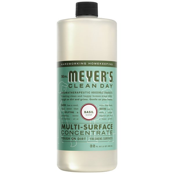 Mrs. Meyer's Clean Day 663052 32 oz. Basil All Purpose Multi-Surface Cleaner Concentrate - 6/Case Main Image 1