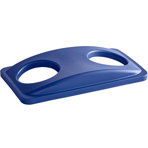 Carlisle 342027REC14 Trimline Blue Recycling Bin Bottle/Can Lid