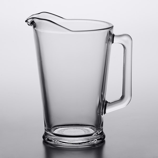 Arcoroc C0678 60 Oz Glass Beer Pitcher With Pour Lip By Arc Cardinal 6 Case
