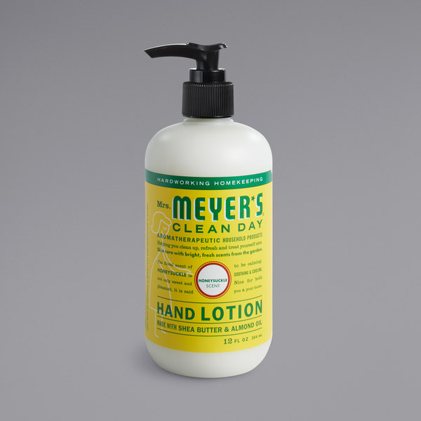 Mrs. Meyer's Clean Day 686592 12 oz. Honeysuckle Hand Lotion - 6/Case Main Image 1