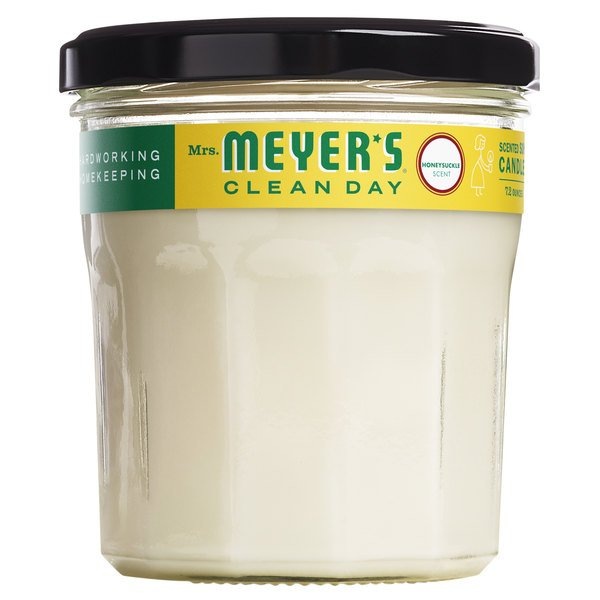 Mrs. Meyer's Clean Day 692194 7.2 oz. Honeysuckle Scented Wax Candle - 6/Case Main Image 1