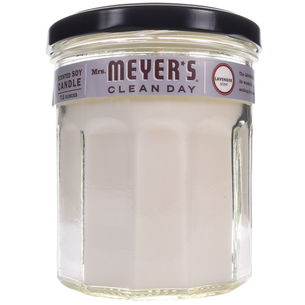 Mrs. Meyer's Clean Day 651386 7.2 oz. Lavender Scented Wax Candle - 6/Case Main Image 1
