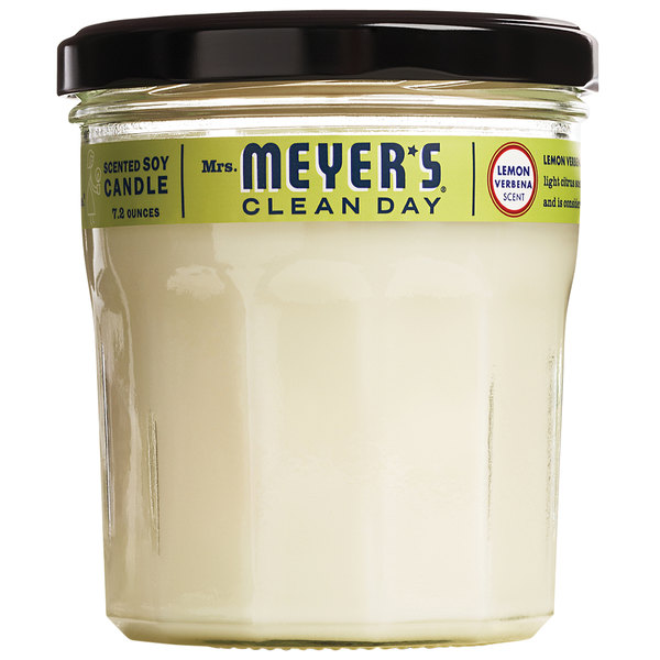 Mrs. Meyer's Clean Day 651387 7.2 oz. Lemon Verbena Scented Wax Candle - 6/Case Main Image 1