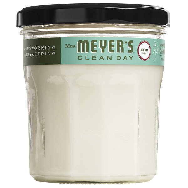 Mrs. Meyer's Clean Day 651389 7.2 oz. Basil Scented Wax Candle - 6/Case Main Image 1
