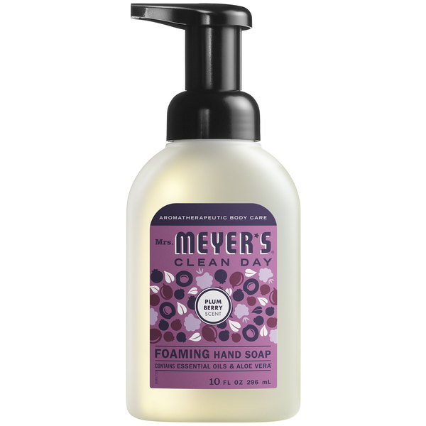 Mrs. Meyer's Clean Day 313584 10 oz. Plum Berry Foaming Hand Soap - 6/Case Main Image 1