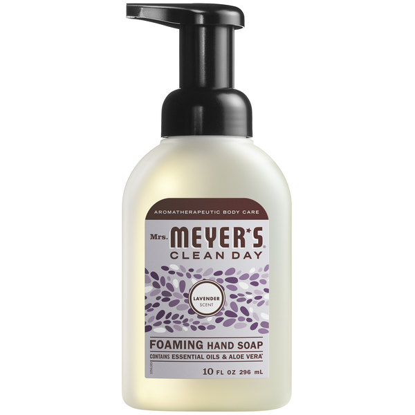 Mrs. Meyer's Clean Day 662031 10 oz. Lavender Foaming Hand Soap - 6/Case Main Image 1