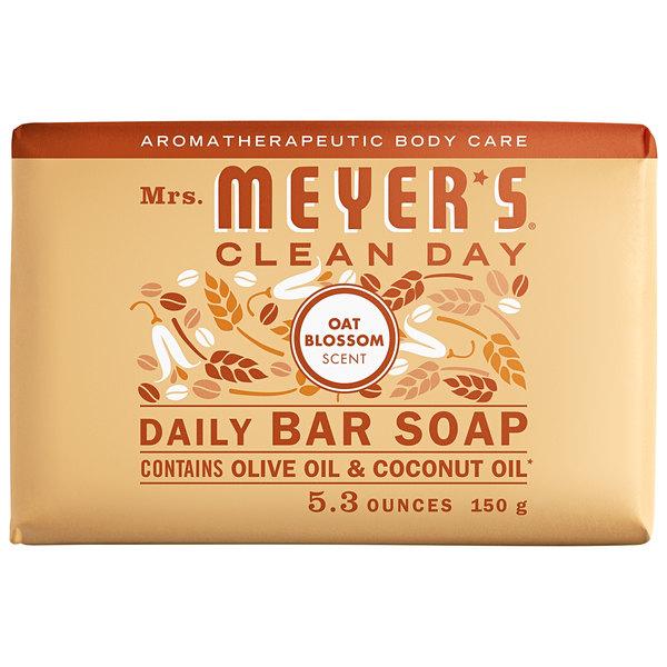 Mrs. Meyer's Clean Day 313538 5.3 oz. Oat Blossom Soap Bar - 12/Case Main Image 1