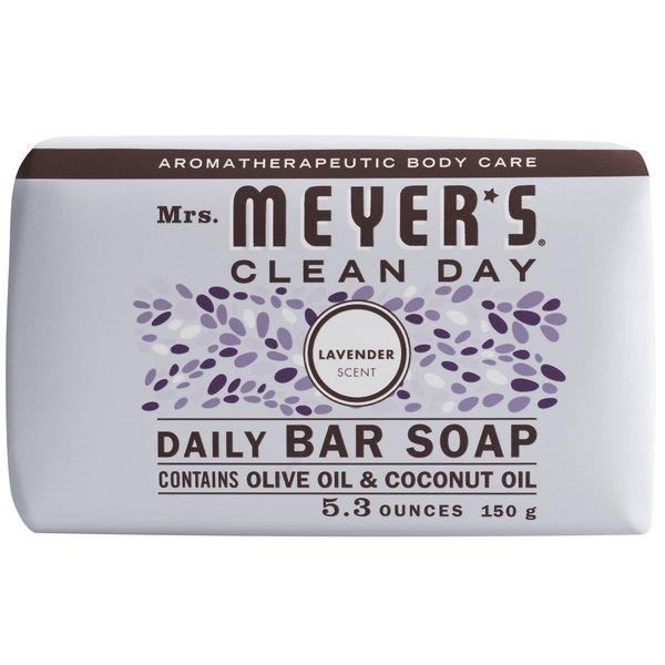 Mrs. Meyer's Clean Day 663363 5.3 oz. Lavender Soap Bar - 12/Case Main Image 1