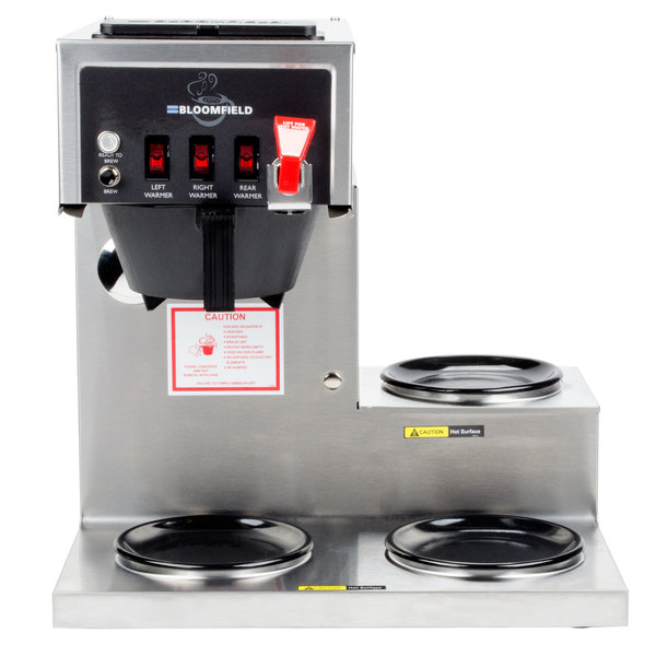 Bloomfield 8572LD3F Koffee King 3 Warmer Left Stepped Automatic Coffee Brewer - 120V