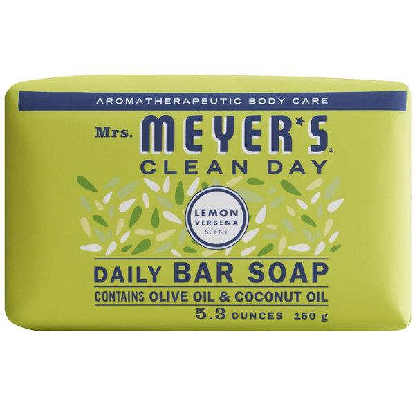 Mrs. Meyer's Clean Day 663367 5.3 oz. Lemon Verbena Soap Bar - 12/Case Main Image 1