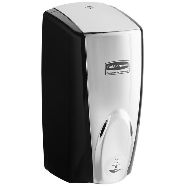 Rubbermaid FG750411 Autofoam 1100 mL Black / Chrome Automatic Hands-Free  Soap Dispenser