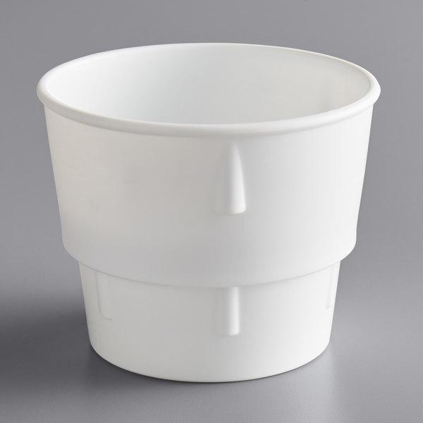 Dart 14J/C 14 oz. White Plastic Malt Collar for 14J16 Cup Main Image 1