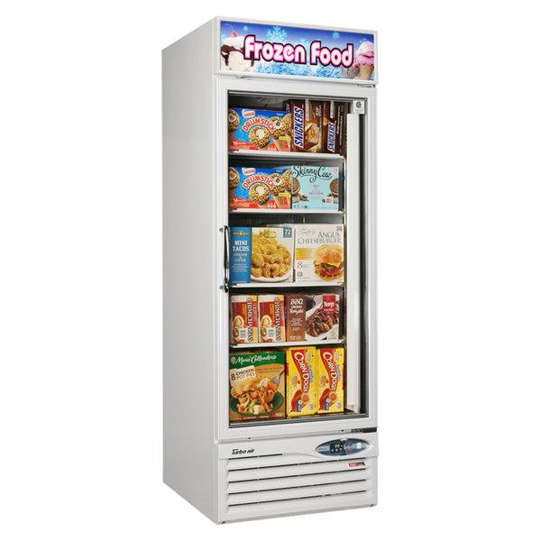 """Turbo Air TGF-23F-N White 27"""" Glass Door Merchandising Freezer"""