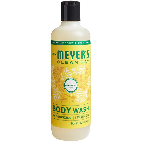 Mrs. Meyer's Clean Day 688234 16 oz. Honeysuckle Body Wash - 6/Case Main Image 1