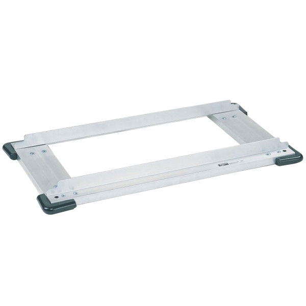 """Metro D2424SCB Stainless Steel Truck Dolly Frame with Corner Bumpers 24"""" x 24"""" Main Image 1"""