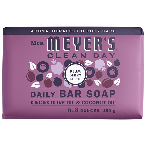Mrs. Meyer's Clean Day 313585 5.3 oz. Plum Berry Soap Bar - 12/Case Main Image 1