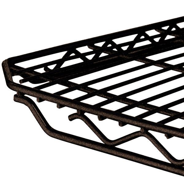 "Metro 1436Q-DCH qwikSLOT Copper Hammertone Wire Shelf - 14"" x 36"""