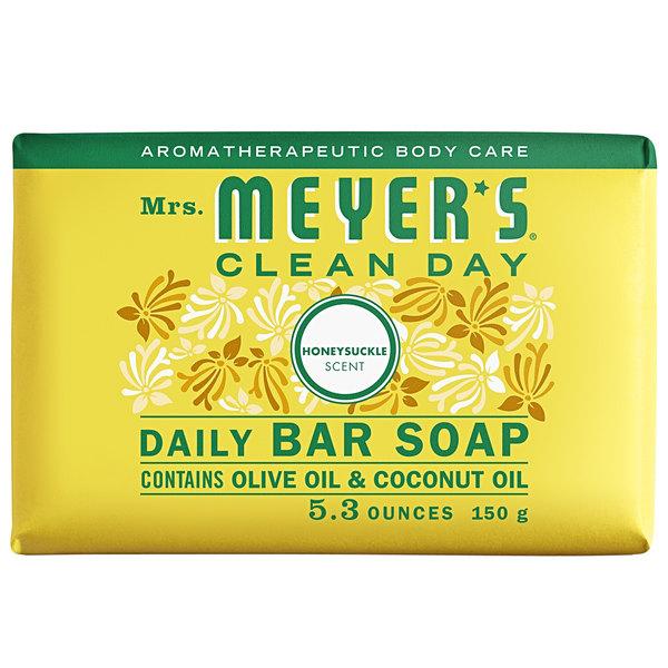 Mrs. Meyer's Clean Day 688235 5.3 oz. Honeysuckle Soap Bar - 12/Case Main Image 1