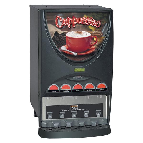 Bunn 37000.0000 iMIX-5 Cappuccino / Espresso Machine Hot Beverage Dispenser with 5 Hoppers - 120V
