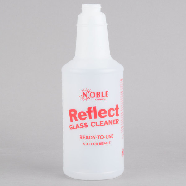 32 oz. Labeled Bottle for Noble Chemical Reflect Glass / Multi-Surface Spray Cleaner (IMP 5032WG)