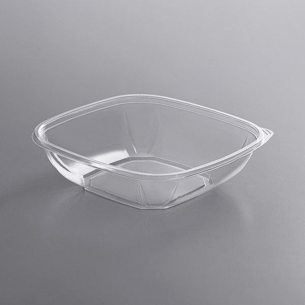 Fineline 15032M-CL Super Bowl Plus 32 oz. Clear Medium Square PET Plastic Bowl - 300/Case