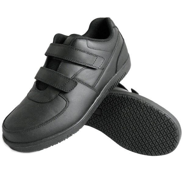 Leather Hook and Loop Closure Non Slip Shoe
