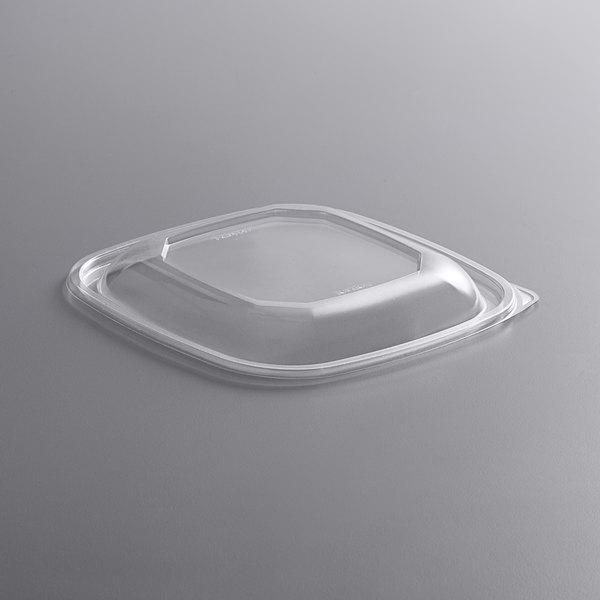 Fineline 15234M-L Super Bowl Plus Clear Dome PET Plastic Lid for 24, 32, and 48 oz. Medium Square Bowls - 300/Case