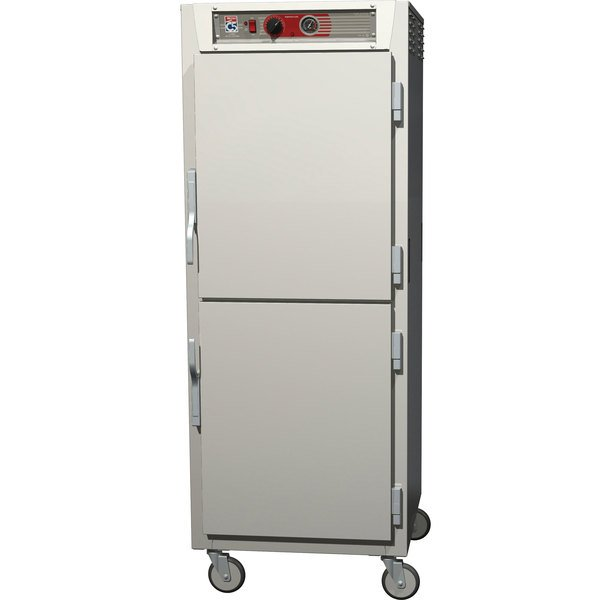 Metro C569-NDS-UPDS C5 6 Series Full Height Reach-In Pass-Through Heated Holding Cabinet - Solid Dutch Doors