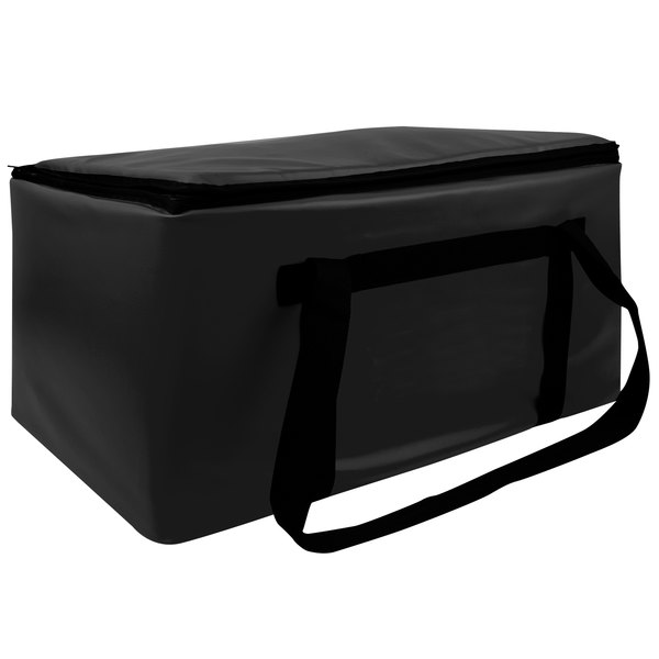 """Sterno Black Customizable Space Saver Catering XL Insulated Food Carrier, 16"""" x 24"""" x 17 3/4"""" - Holds 4 Full Size Food Pans Main Image 1"""