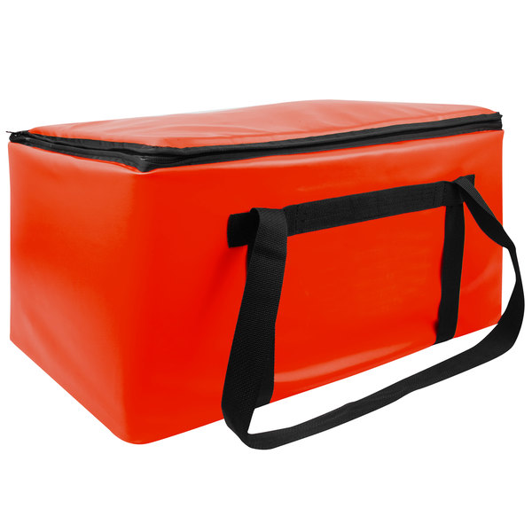 """Sterno Red Customizable Space Saver Catering XL Insulated Food Carrier, 16"""" x 24"""" x 17 3/4"""" - Holds 4 Full Size Food Pans Main Image 1"""
