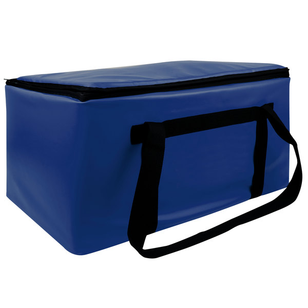 """Sterno Royal Blue Customizable Space Saver Catering XL Insulated Food Carrier, 16"""" x 24"""" x 17 3/4"""" - Holds 4 Full Size Food Pans Main Image 1"""
