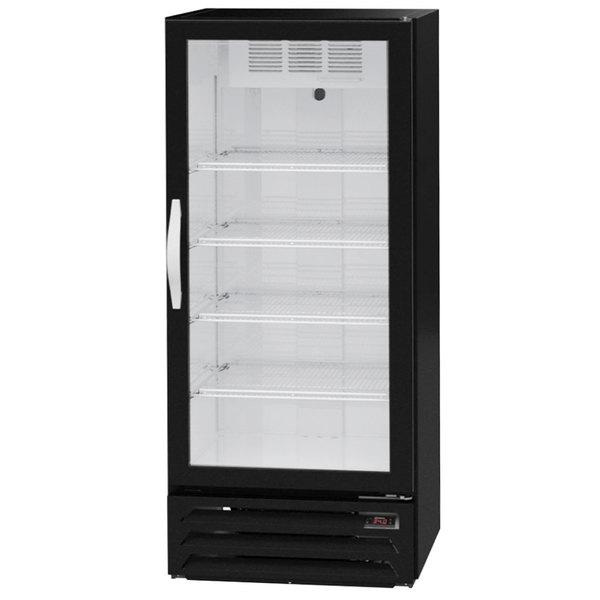 """Beverage-Air MMR12HC-1-BS MarketMax 24"""" Black Glass Door Merchandiser Refrigerator with Stainless Steel Interior"""