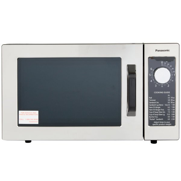 Panasonic NE 1025 Stainless Steel Commercial Microwave Oven With Dial Timer