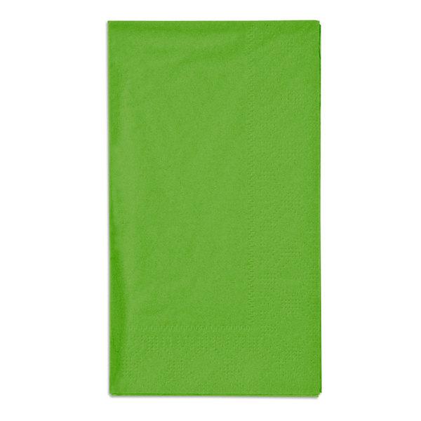 "Hoffmaster 180561 Fresh Lime Green 15"" x 17"" 2-Ply Paper Dinner Napkin - 1000/Case Main Image 1"