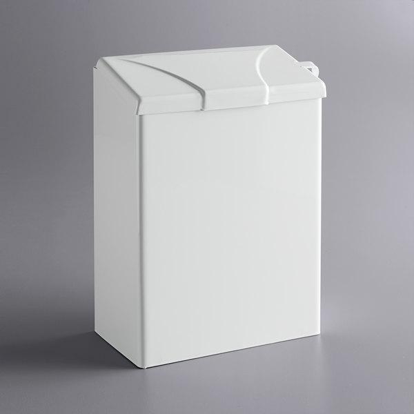 Continental 250W White Steel Sanitary Napkin Receptacle Main Image 1