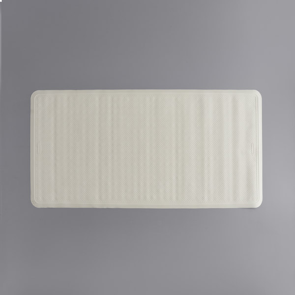 Safti Grip 36 X 18 White Rubber Bath Mat