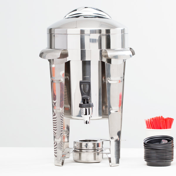 Vollrath 49525 11.6 Qt. Maximillian Steel Coffee Urn with Stainless Steel Accents Main Image 3