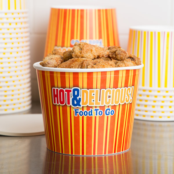 Choice 85 oz. Hot Food Bucket with Lid - 25/Pack Main Image 3