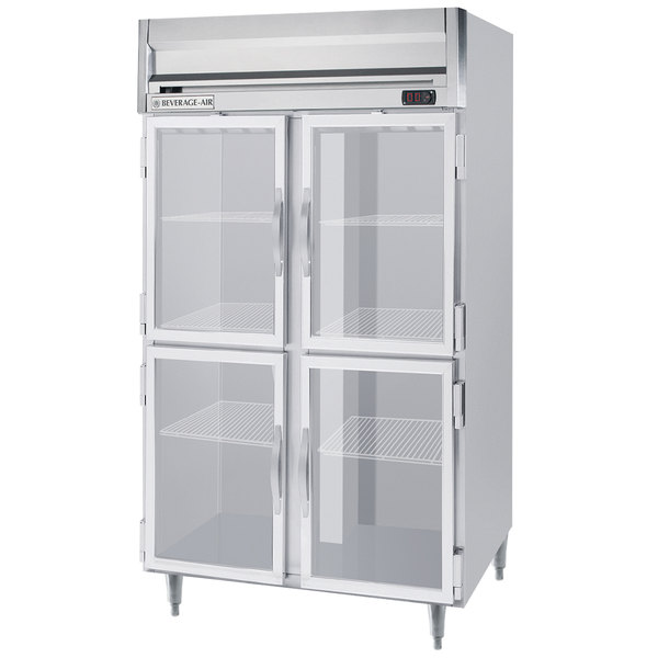 "Beverage-Air HRPS2HC-1HG Horizon Series 52"" Glass Half Door Reach-In Refrigerator Main Image 1"
