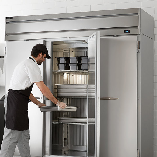 "Beverage-Air HR3HC-1S Horizon Series 78"" Top Mounted Solid Door Reach-In Refrigerator Main Image 6"