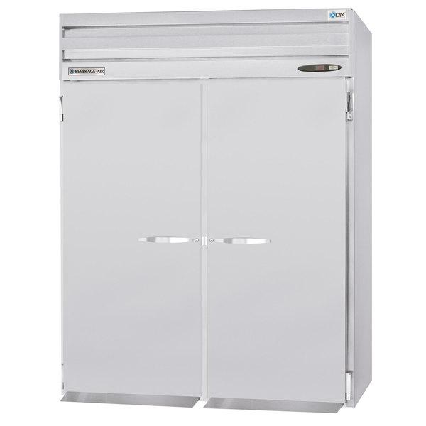 "Beverage-Air PRI2HC-1AS 66"" Stainless Steel Solid Door Roll-In Refrigerator Main Image 1"