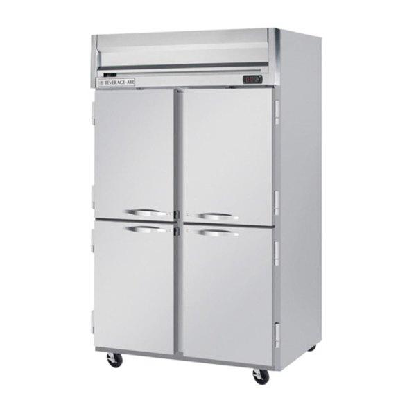 "Beverage-Air HFP2HC-1HS Horizon Series 52"" Half Door Reach-In Freezer Main Image 1"
