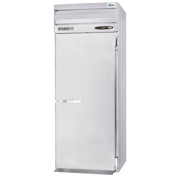 "Beverage-Air PRI1HC-1AS 36"" Stainless Steel Solid Door Roll-In Refrigerator Main Image 1"