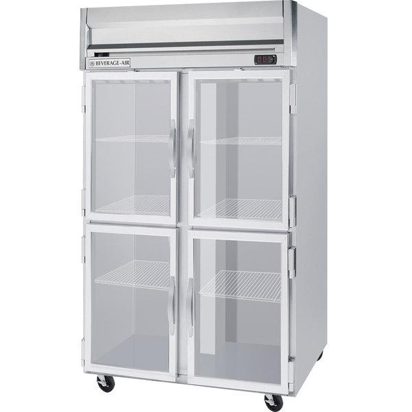 "Beverage-Air HFS2HC-1HG Horizon Series 52"" Glass Half Door Reach-In Freezer Main Image 1"