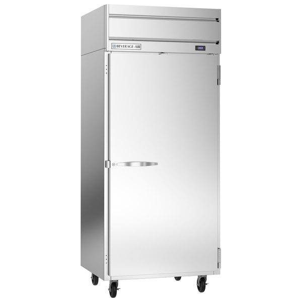 "Beverage-Air HFPS1WHC-1S Horizon Series 35"" Wide Stainless Steel Reach-In Freezer Main Image 1"