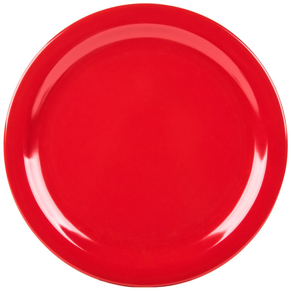 Add flair to your casual dining area with the Carlisle 4350005 Dallas Ware 10 1/4\  red melamine dinner plate!  sc 1 st  WebstaurantStore & Carlisle 4350005 Dallas Ware 10 1/4\