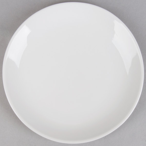7 inch Coupe Bright White Round Porcelain Plate  - 36/Case