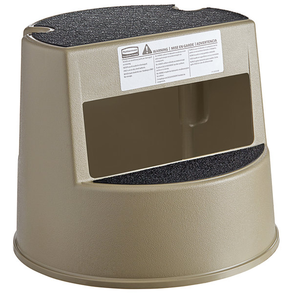 Awesome Rubbermaid Fg252300Beig Beige Mobile Two Step Step Stool Caraccident5 Cool Chair Designs And Ideas Caraccident5Info