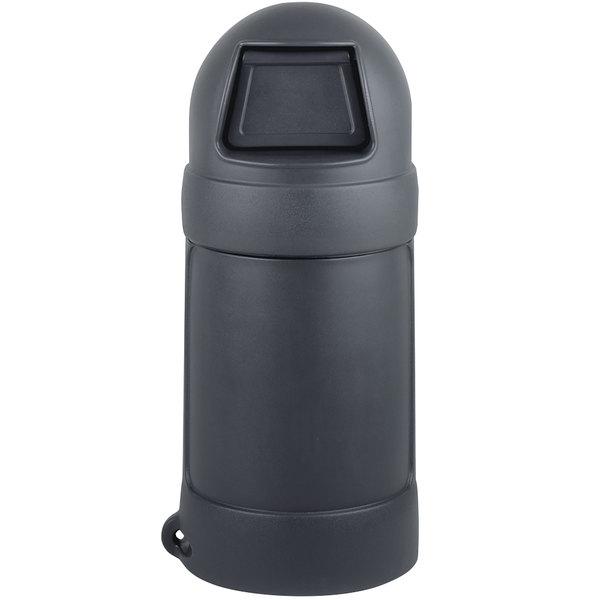 Continental 1305GY Roun'Top 18 Gallon Gray Round Trash Can Main Image 1